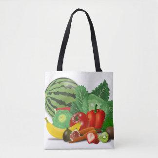 Bolsa Tote Saco de compras do vegetariano
