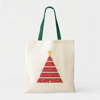 Bolsa Tote Saco de compras sazonal vermelho da árvore de
