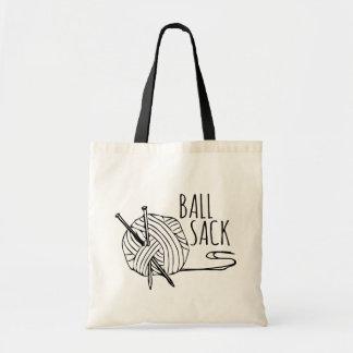 Bolsa Tote Saco de confecção de malhas engraçado da bola