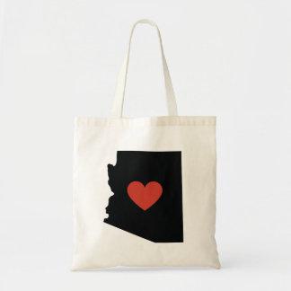 Bolsa Tote Saco de livro do amor do estado da arizona ou