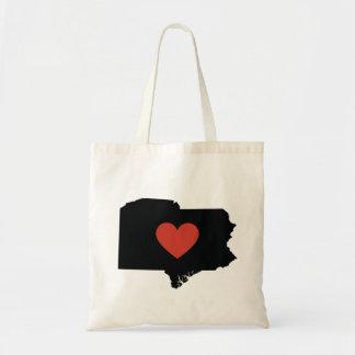 Bolsa Tote Saco de livro do amor do estado de Pensilvânia ou