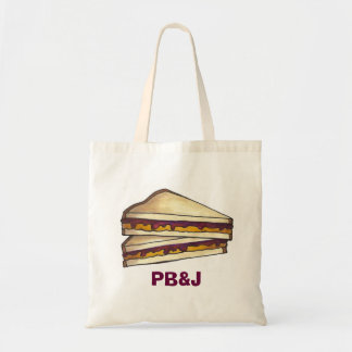 Bolsa Tote Saco do almoço escolar do sanduíche da geléia PBJ