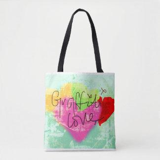 Bolsa Tote Saco do amor dos grafites