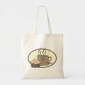 Bolsa Tote Saco do café e do muffin para amantes do café