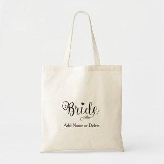 Bolsa Tote Saco do casamento para a sacola das canvas do