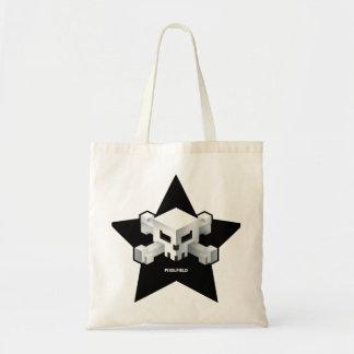 Bolsa Tote Saco do crânio da estrela do jogo   de Pixelfield
