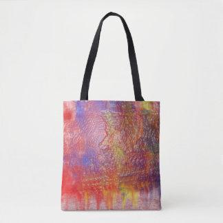 Bolsa Tote Saco do design da cor do arco-íris