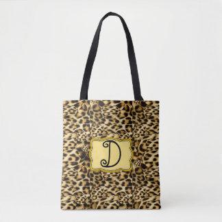 Bolsa Tote Saco do impressão do leopardo