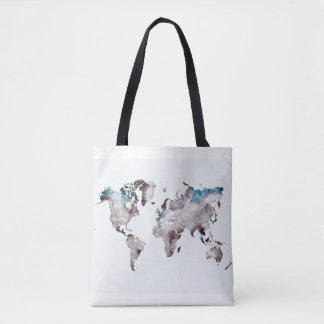 Bolsa Tote saco do mapa do mundo