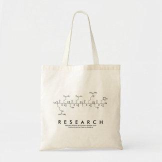 Bolsa Tote Saco do nome do peptide da pesquisa