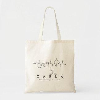 Bolsa Tote Saco do nome do peptide de Carla