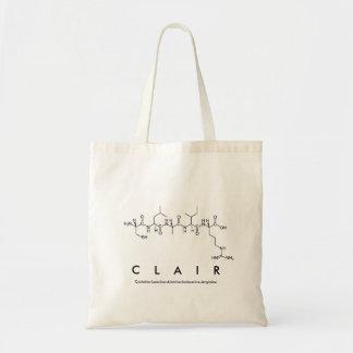 Bolsa Tote Saco do nome do peptide de Clair
