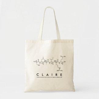 Bolsa Tote Saco do nome do peptide de Claire