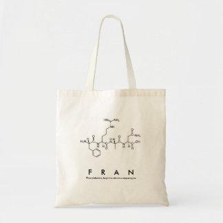 Bolsa Tote Saco do nome do peptide de Fran
