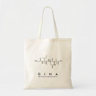 Bolsa Tote Saco do nome do peptide de Gina