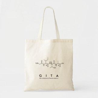 Bolsa Tote Saco do nome do peptide de Gita