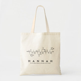 Bolsa Tote Saco do nome do peptide de Hannah