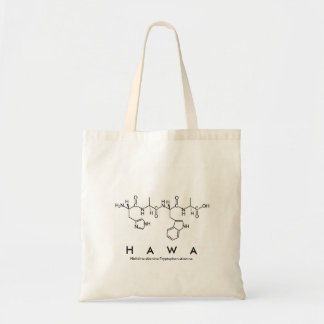 Bolsa Tote Saco do nome do peptide de Hawa