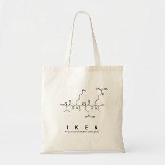 Bolsa Tote Saco do nome do peptide de Iker