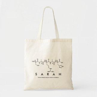 Bolsa Tote Saco do nome do peptide de Sarah