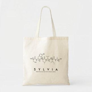 Bolsa Tote Saco do nome do peptide de Sylvia