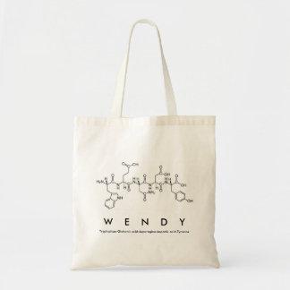 Bolsa Tote Saco do nome do peptide de Wendy