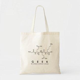 Bolsa Tote Saco do nome do peptide do geek