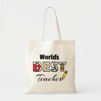 Bolsa Tote Saco do orçamento do professor do mundo o melhor