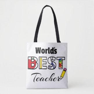 Bolsa Tote Saco do professor do mundo o melhor