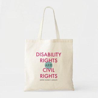 Bolsa Tote Saco dos direitos de inabilidade