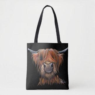 """Bolsa Tote Saco escocês de """"BRUCE"""" da vaca das montanhas"""