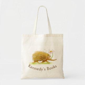 Bolsa Tote Saco irrisório da biblioteca do nome da arte do