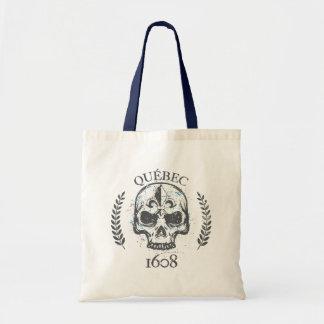 Bolsa Tote Saco Juta Quebeque Skull/Crânio Biker Grunge