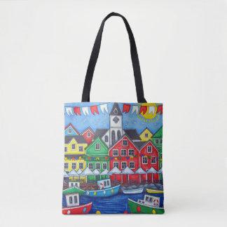 Bolsa Tote Saco marítimo do festival da cidade natal por Lisa