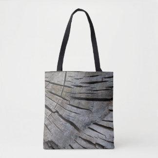 Bolsa Tote Saco material de madeira