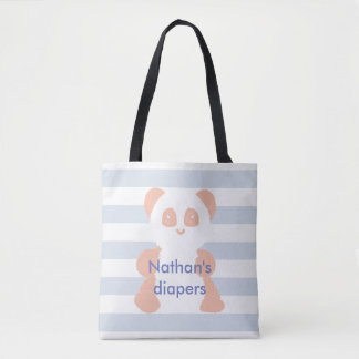 Bolsa Tote Saco minimalista da fralda da panda