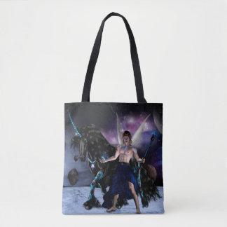 Bolsa Tote Saco Orion Fada Feiticeiro e o seu licorne lunar