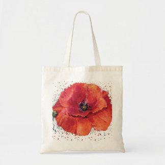 Bolsa Tote saco papoila vermelha