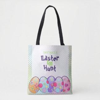 Bolsa Tote Saco personalizado caça do ovo da páscoa