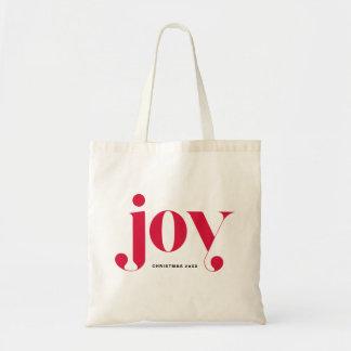 Bolsa Tote Saco personalizado do feriado da alegria