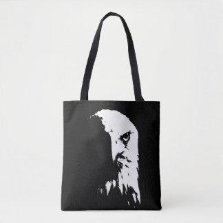 Bolsa Tote Saco preto & branco da águia americana