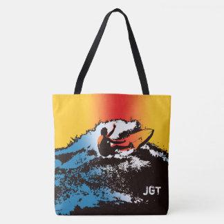 Bolsa Tote Saco retro havaiano Groovy do surfista 60s