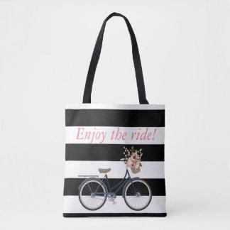 Bolsa Tote Saco rústico personalizado da bicicleta