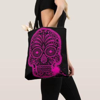 Bolsa Tote Saco saco impresso cabeça de morte