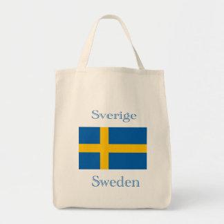 Bolsa Tote Saco sueco da bandeira
