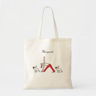 Bolsa Tote Saco Tricolor da ioga de Jack Russell Terrier