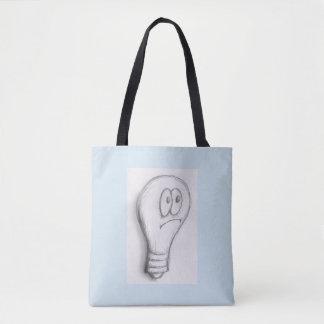 Bolsa Tote Saco triste da lâmpada