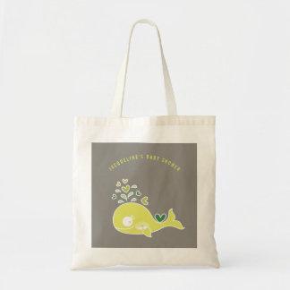 Bolsa Tote Saco verde grávido do presente do chá de fraldas