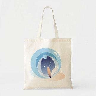 Bolsa Tote Sacola abstrata mínima de Lotus da água