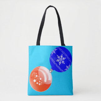 Bolsa Tote Sacola Alaranjado-Azul de turquesa do ornamento